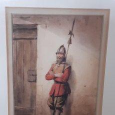 Arte: SOLDADO. ACUARELA. FIRMADO Y FECHADO 1831 POR PIERRE FRANÇOISE LE ROY. 1815-1861.. Lote 247089730