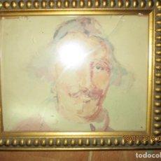 Art: ANTIGUA ACUARELA RETRATO. Lote 247248915