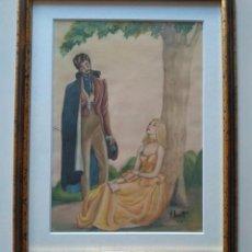 Arte: JOSÉ LUIS FLORIT. ACUARELA ENMARCADA 1964. Lote 247543735