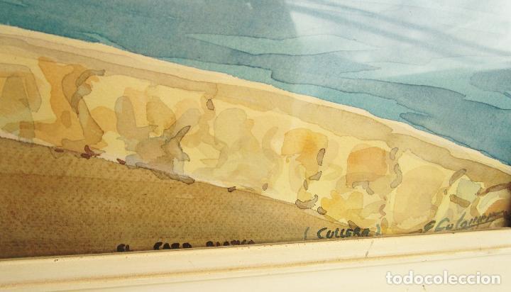 Arte: PRECIOSA ACUARELA AÑOS 60 FARO DE CULLERA FIRMADA COLOMER - Foto 5 - 247610425