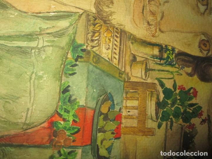 Arte: acuarela alegoria DIOS VINO BACO PRINCIPIOS DE SIGLO FIRMA DA CIRCULO PROXIMO A G. CASTELLO ALICANTE - Foto 13 - 247655785