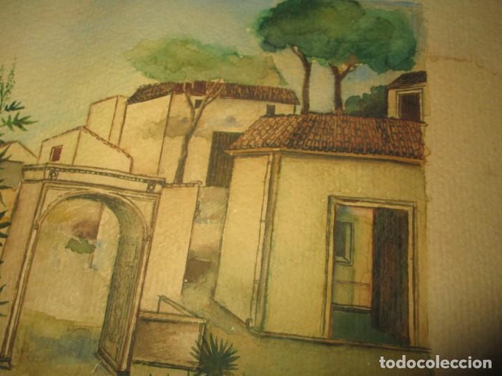 Arte: acuarela alegoria DIOS VINO BACO PRINCIPIOS DE SIGLO FIRMA DA CIRCULO PROXIMO A G. CASTELLO ALICANTE - Foto 16 - 247655785