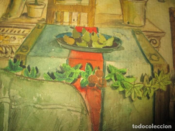 Arte: acuarela alegoria DIOS VINO BACO PRINCIPIOS DE SIGLO FIRMA DA CIRCULO PROXIMO A G. CASTELLO ALICANTE - Foto 12 - 247655785