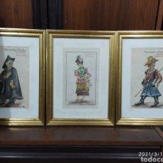 """Arte: G. VALLSMADELLA - ACUARELAS """"TIPOS POPULARS DE BARCELONA"""". Lote 247777520"""