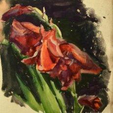 Arte: BODEGÓN CON FLORES DEL PINTOR Y ACUARELISTA JOAN FORT GALCERÁN (BARCELONA 1902-¿?). Lote 247979270
