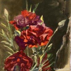 Arte: JOAN FORT GALCERÁN (BCN 1902-¿?) NATURALEZA VIVA CON ROSAS DEL PINTOR Y ACUARELISTA. Lote 247980845