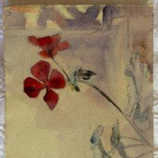 Arte: BODEGÓN CON FLORES DEL PINTOR Y ACUARELISTA JOAN FORT GALCERÁN (BCN 1902-¿?). Lote 247984840