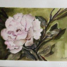Arte: FLOR ROSAEDA OBRA DE ISABEL LUESMA. Lote 248139570