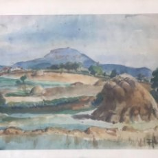 Arte: ACUARELA DE JOAN ABELLÓ. PASAIJE 1950'S.. Lote 248692700