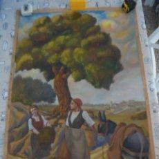 Arte: MAGNIFICA ANTIGUA GRAN ACUARELA SOBRE PAPEL SOBRE 1920. Lote 249012145