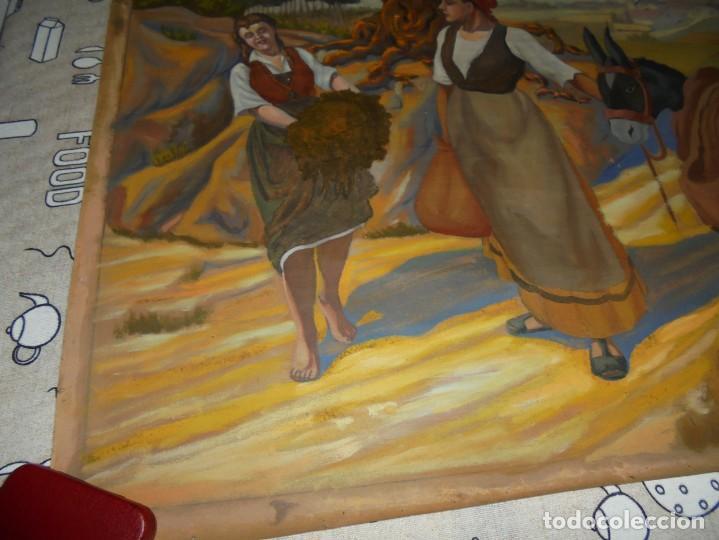 Arte: magnifica antigua gran acuarela sobre papel sobre 1920 - Foto 5 - 249012145
