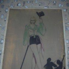 Arte: MAGNIFICA ANTIGUA ACUARELA ART DECO SOBRE PAPEL SOBRE 1920. Lote 249012650