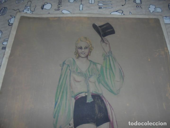 Arte: magnifica antigua acuarela art deco sobre papel sobre 1920 - Foto 2 - 249012650