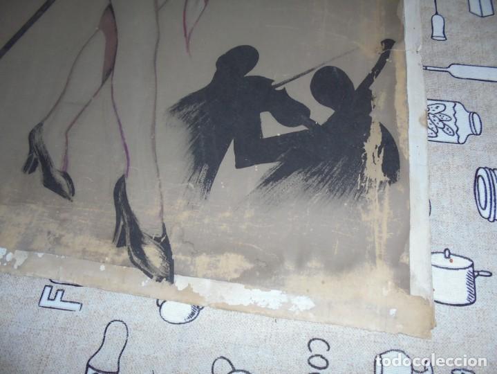 Arte: magnifica antigua acuarela art deco sobre papel sobre 1920 - Foto 8 - 249012650