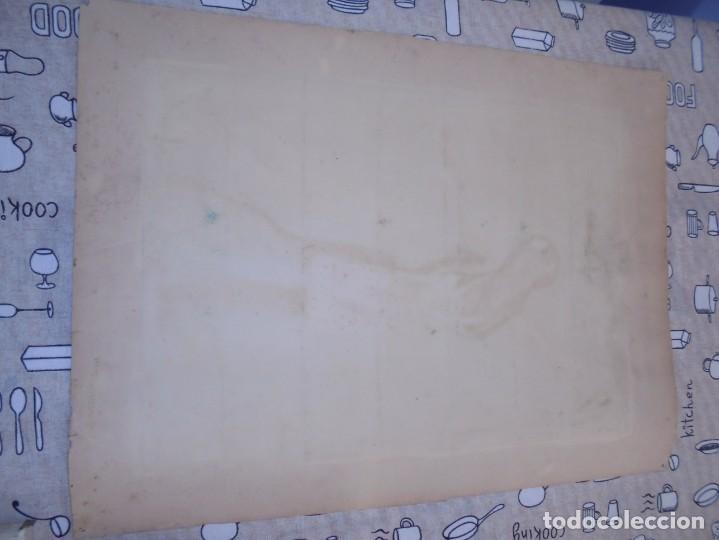 Arte: magnifica antigua acuarela art deco sobre papel sobre 1920 - Foto 5 - 249012970