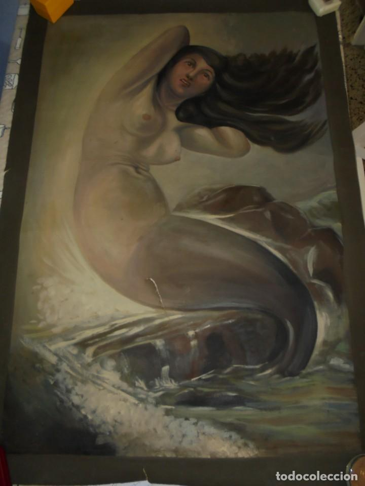 MAGNIFICA ANTIGUA GRAN ACUARELA SOBRE PAPEL SOBRE 1920 (Arte - Acuarelas - Contemporáneas siglo XX)