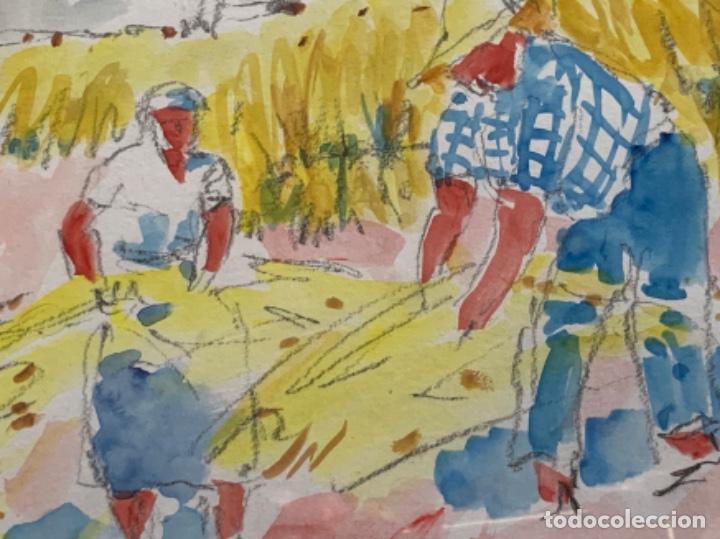 Arte: ACUARELA, RAMON SANVISENS 50x35 CM. - Foto 5 - 249196145
