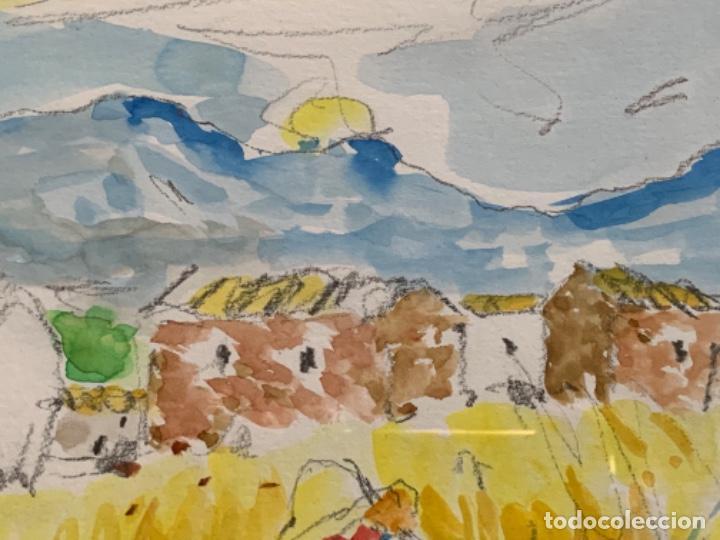 Arte: ACUARELA, RAMON SANVISENS 50x35 CM. - Foto 6 - 249196145