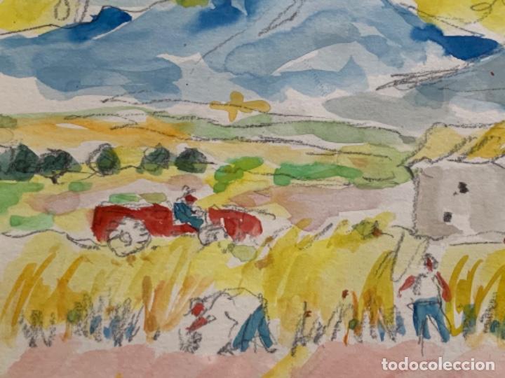 Arte: ACUARELA, RAMON SANVISENS 50x35 CM. - Foto 8 - 249196145