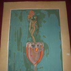 Arte: MAGNIFICA ANTIGUA ACUARELA DE LOS AÑOS 20 ART DECO. Lote 249283965