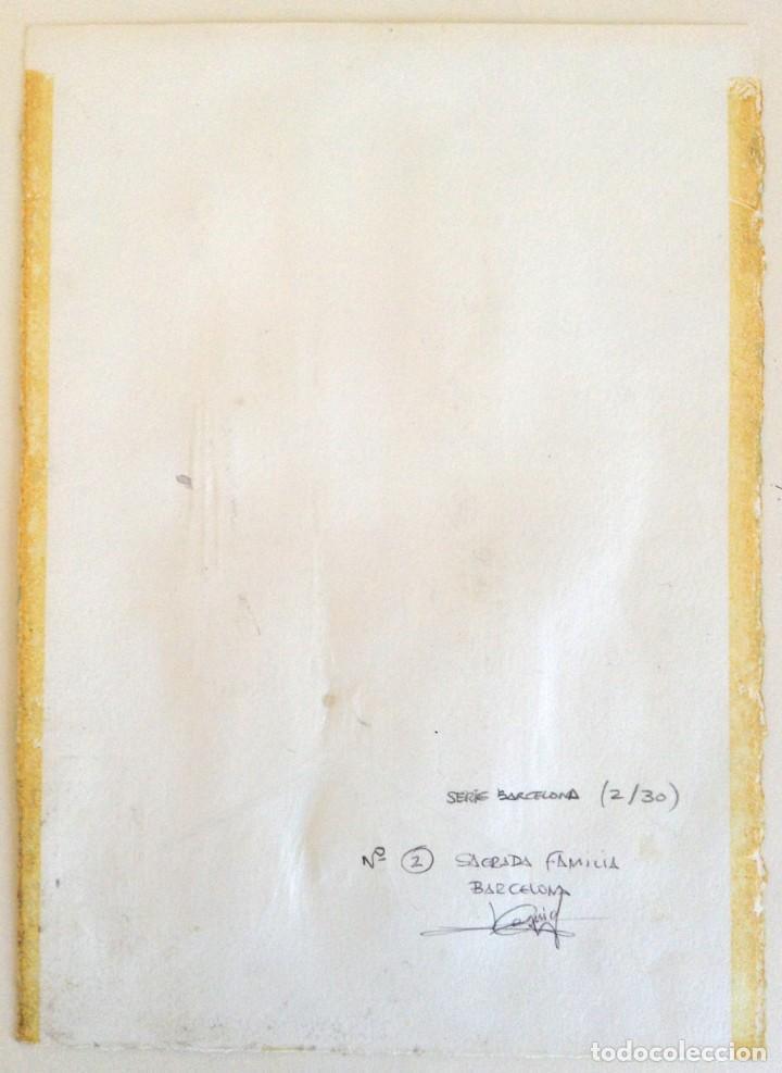 Arte: La Sagrada Familia - Dibujo y acuarela sobre papel 35x25. Firmado Cequiel - Foto 5 - 243892410