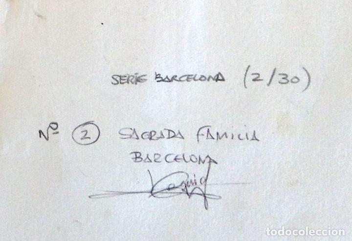 Arte: La Sagrada Familia - Dibujo y acuarela sobre papel 35x25. Firmado Cequiel - Foto 6 - 243892410