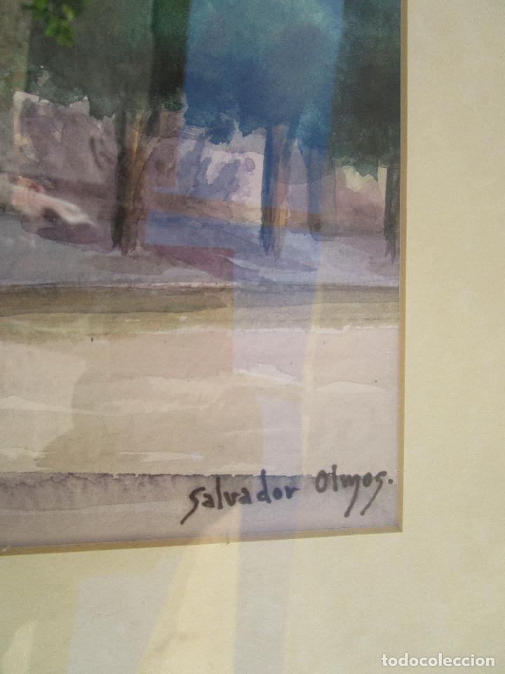 Arte: MARAVILLOSA GRAN ACUARELA ANTIGUA IGLESIA SANTA CATALINA ALCIRA IGLESIA plaza martires - Foto 6 - 249587620