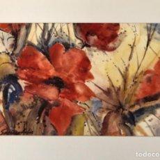 Arte: ACUARELA DE SORIANO BADIA 1969, ESTUDIO APUNTE DE FLORES . MEDIDAS 31X20,5. PASPARTOUT 40X30. Lote 251995095