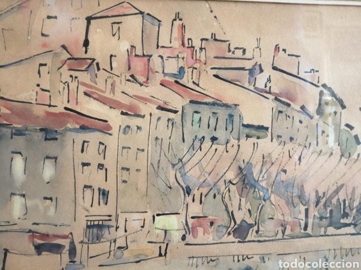 VANGUARDIA. ESCUELA DE PARÍS. FIRMADO ILEGIBLE. (Arte - Acuarelas - Contemporáneas siglo XX)
