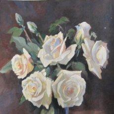 Arte: LLUIS GONZAGA BAS FERRER (BADALONA 1907 – 1988). ROSAS. ACUARELA. 41,5 X 31,5 CM. FIRMADO. Lote 252769345