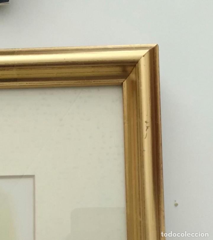 Arte: Cuadro La Primera Comunión de Ortega - enmarcado madera dorada y paspartú - Total 52cm x 39cm x 4cm - Foto 4 - 253180330