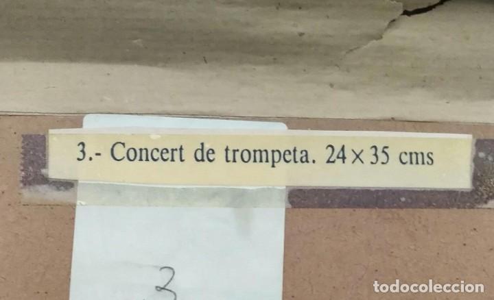 Arte: Cuadro Concert de Trompeta (Concierto de trompeta) - Firmado - Total 52cm x 39cm x 4cm - Foto 4 - 253181490