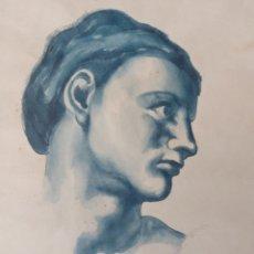 """Arte: BOCETO"""" ROSTRO ADOLESCENTE"""". Lote 253473635"""