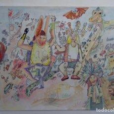 Arte: DIBUJO Y ACUARELA DE QUICO PALOMAR DE LA FURA DELS BAUS.. Lote 253930605