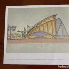 Arte: ACUARELA ORIGINAL SANTIAGO CALATRAVA. CIUDAD DE LAS ARTES DE VALENCIA.. Lote 254059535