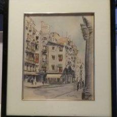 Arte: FREDERIC LLOVERAS (BARCELONA 1912-1983). ACUARELA Y TINTA. AÑO 53.. Lote 254314395