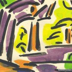 Arte: ROSA TORRES. ACUARELA. SIN FIRMAR. PAISAJE. 11X12,5 CM. BUEN ESTADO. NOMBRE Y APELLIDO EN EL DORSO.. Lote 254410565