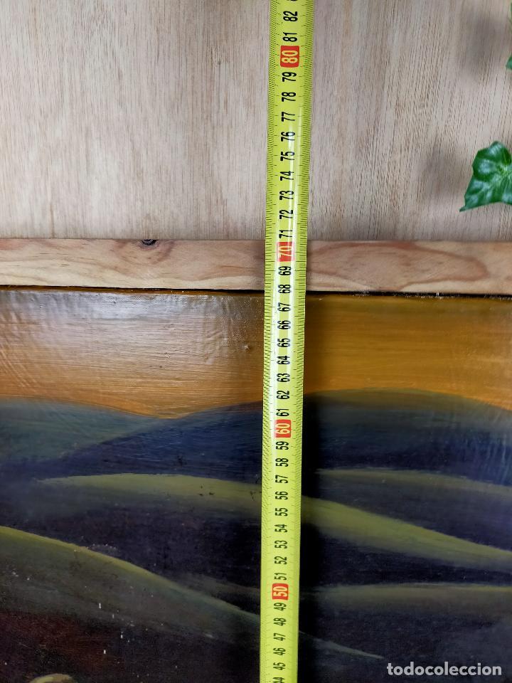 Arte: Oleo vanitas - ver firma - calavera reloj de arena y violin - Foto 6 - 254564525