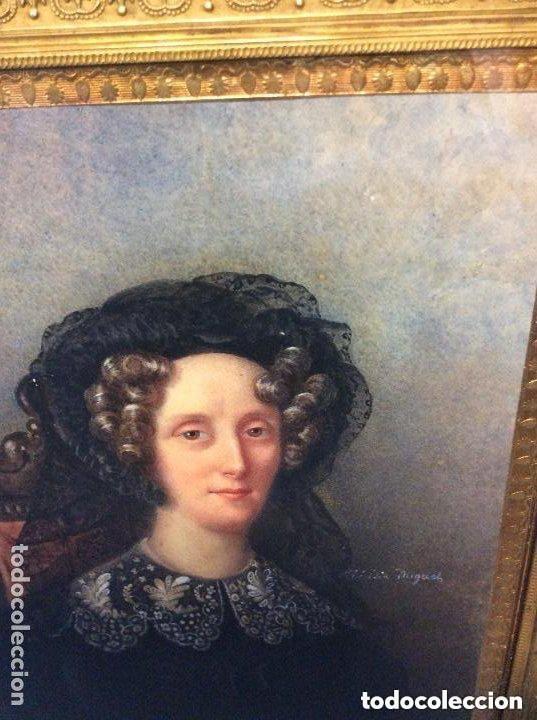 Arte: Miniatura del siglo XIX,Escuela Francesa Firma Ilegible - Foto 2 - 254753365