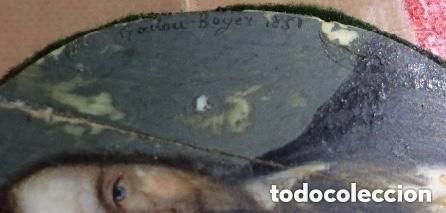 Arte: GADOU-BOYER ,miniatura sobre marfil ,firmada y fechad 1851 - Foto 4 - 254755050
