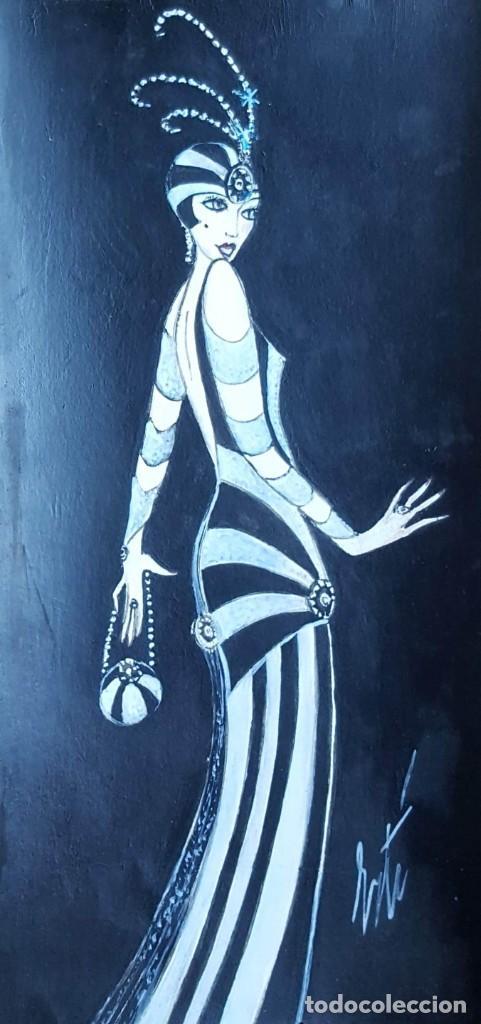 Arte: ERTÉ (1892-1990) Romain de Tirttoff (Atrr.) Pintor Ruso/Francés. Acuarela s/papel. - Foto 3 - 254841465