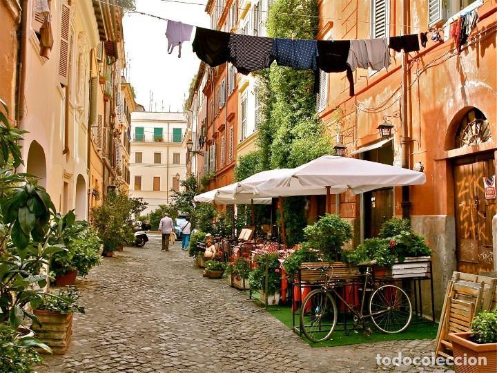Arte: Acuarela Original. Trastevere Roma. Autor Anónimo - Foto 2 - 254672005