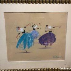 """Arte: """"DANZA MALLORQUINA"""" ACUARELA COLL BARDOLET. Lote 254859740"""