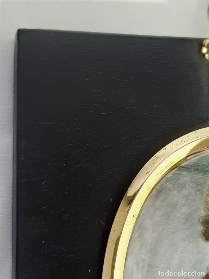 Arte: Retrato de caballero. Miniatura. Marco de época.Inglaterra. Siglo XVIII-siglo XIX. - Foto 9 - 255600925