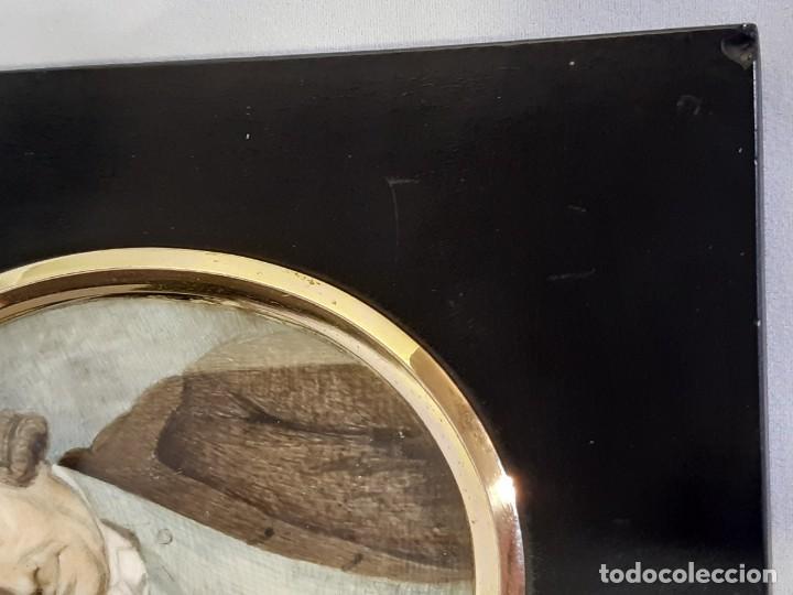 Arte: Retrato de caballero. Miniatura. Marco de época.Inglaterra. Siglo XVIII-siglo XIX. - Foto 11 - 255600925