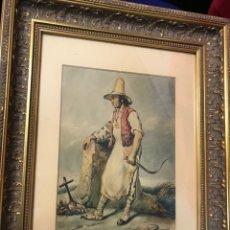 """Arte: """"CAMPESINO MALLORQUÍN"""" DE FERNANDO FERRANT Y LLAUSÁS (PALMA DE MALLORCA 1810-EL ESCORIAL 1852). Lote 255933025"""