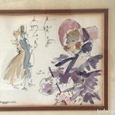 Art: ACUARELA FIRMADA RAGINAL. 1970'S. VER FOTOS ANEXAS.. Lote 256827635