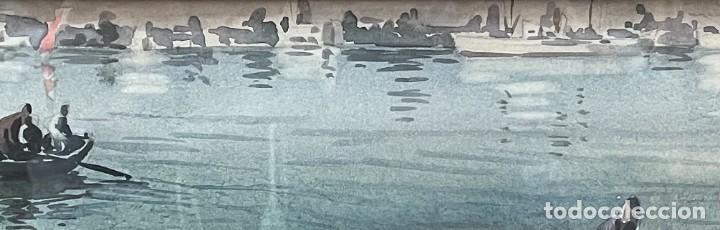 Arte: GUILLEM FRESQUET BARDINA - ACUARELA - PESCADORES. - Foto 7 - 256147595