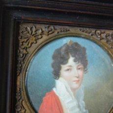 Arte: PROSPER LEPINOY ( 1792-1859), MINIATURA SOBRE MARFIL.. Lote 257473170