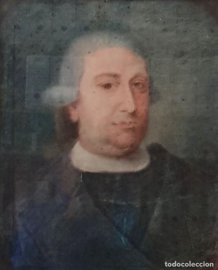 GIACOMO CAMBRUZZI - 1785 - PASTEL Y PERGAMINO - RETRATO JACOBO MARÍA SPINOSA CANTABRANA. (Arte - Acuarelas - Antiguas hasta el siglo XVIII)